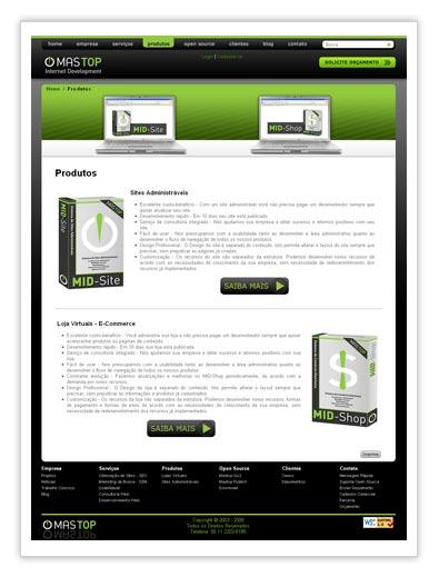Mastop Internet Development - Produtos